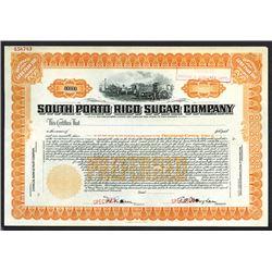 South Porto Rico Sugar Co., ca. 1908 Specimen Stock Certificate.