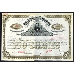 American Telegraph and Cable Company Specimen Shares.