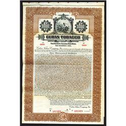 Cuban Tobacco Co., Inc., 1924 Specimen Bond.