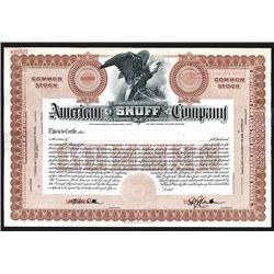 American Snuff Company Specimen Shares. ND. CA 1930s.