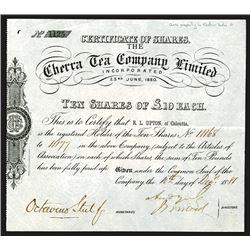 Porto Rican American Tobacco Co., ND ca.1910-30, Specimen Stock Certificate.