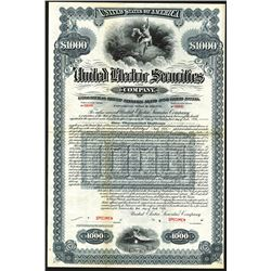 United Electric Securities Co., 1926 Specimen Bond.