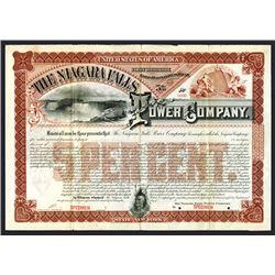 Niagara Falls Power Co., 1891 Specimen Bond.