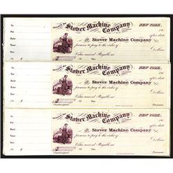Stover Machine Co. Checks Assortment.