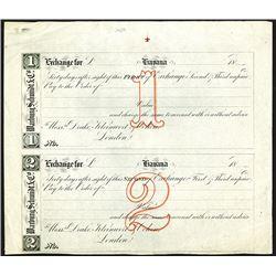 Warburg, Schmidt & Co.  60-day 1st and 2nd Exchange Draft Specimens.