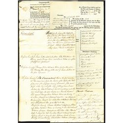 Legal Papers and Documents Assortment ca.1810-1890.