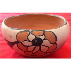 Santo Domingo Polychrome Painted Bowl