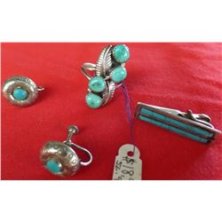 Collection of Turquoise and Sterling Silver Jewelry