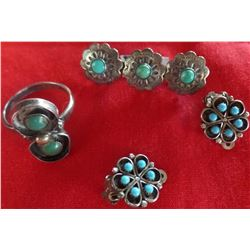 Collection of Sterling Silver and Turquoise Jewelry
