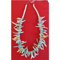 Santo Domingo Shell and Turquoise Necklace
