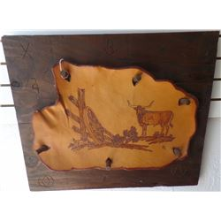 Western Painting on Cowhide