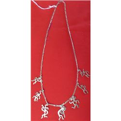 Kokopelli Sterling Silver Necklace