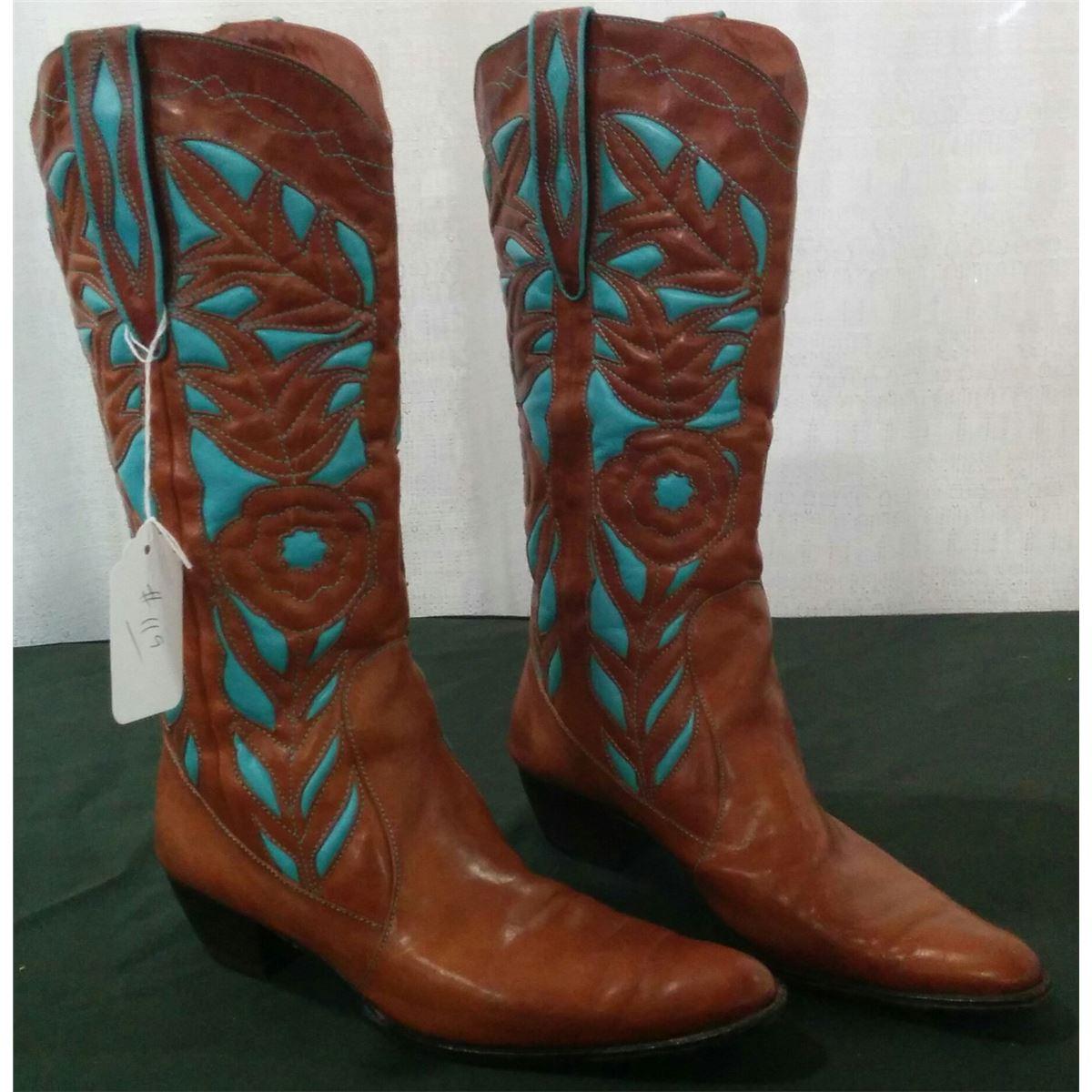 5f6580399ebef2 Vero Cuoio Cowboy Boots. Loading zoom