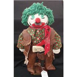Cowboy Clown Doll