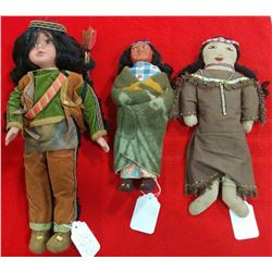 Collection of Three Indian Dolls