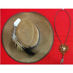 Cowboy Hat with Matching Bolo Tie