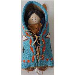 Old Cheyenne Beaded Cradle Board