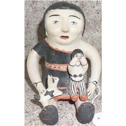 Older Cochiti Story Teller Pottery