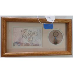 Original framed pencil by Sue Weaver