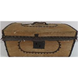 Fine Antique Leather Covered Trunk