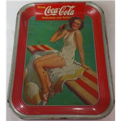 Vintage Coke Tray dated 1939