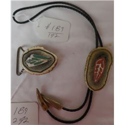 Bolo Tie and Buckle Collection made from Elk Antler and shell