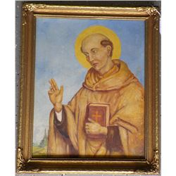 Original Oil Painting of St. Bernard