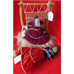Two dolls - Navajo Weaver Doll