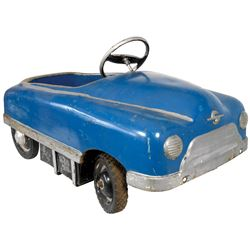 Carnival kiddie ride car, pressed steel, Sherwood-Walden-NY, c.1940's-1950's, missing windshield, Go