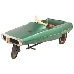 "Child's pedal car, AMF Probe Jr., pressed steel, c.1969, Good cond w/some rust, 17""H x 43""L."