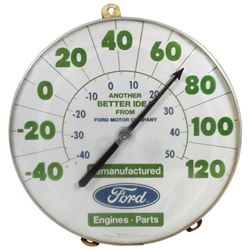 Automotive thermometer, Ford Remanufactured Engines & Parts, made by The Ohio Thermometer Co., metal