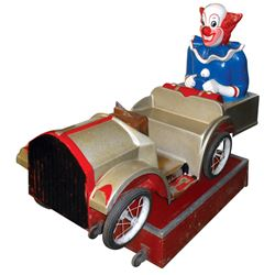 """Coin-operated kiddie ride, Bozo The Clown, 25 Cent, VG working cond w/no lock or key, 51""""H x 59""""L x"""