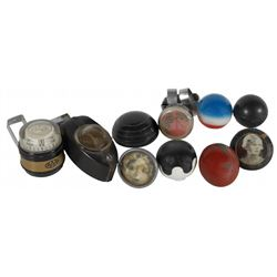 Automotive compasses, steering wheel & shifter knobs (10),  metal, plastic & rubber shifter knobs, 2