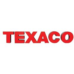 Petroliana sign, Texaco, metal frame w/plastic face, individual letters mounted on wood board, VG co