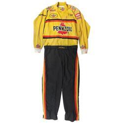"Automotive racing uniform, Pennzoil w/logo for Bahari Racing, belt reads ""B J Moose"", c.1980's, VG c"