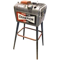 Petroliana Champion Spark Plug cleaner, metal w/Champion logo, c.1950's-1960's, non-working cond w/a