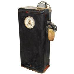 """Petroliana gasoline pump, Tokheim, Model #40, 20-gal, VG cond w/old repaint, 39""""H x 16""""W x 10""""D."""