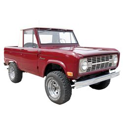 Pick-Up, 1968 Ford Bronco.  Maroon with beige top (beautiful). Column shift. Quality black interior.