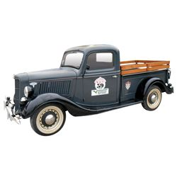 Pick-Up, 1936 Ford.  Gray with black fenders and black interior. Restored and ran as Great American