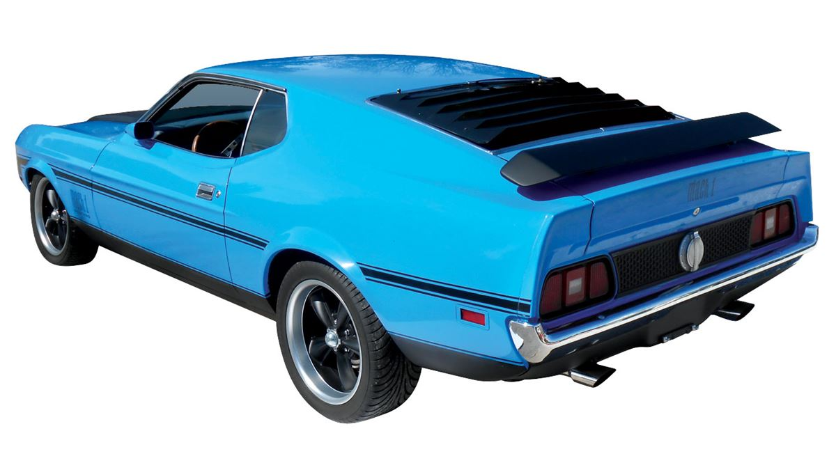 Image 2 automobile 1972 mustang mach i coupe grabber blue with blue interior