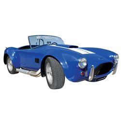 Automobile, 1967 Shelby Cobra Replica. Classic Cobra blue, black interior. 351 Windsor, high perform