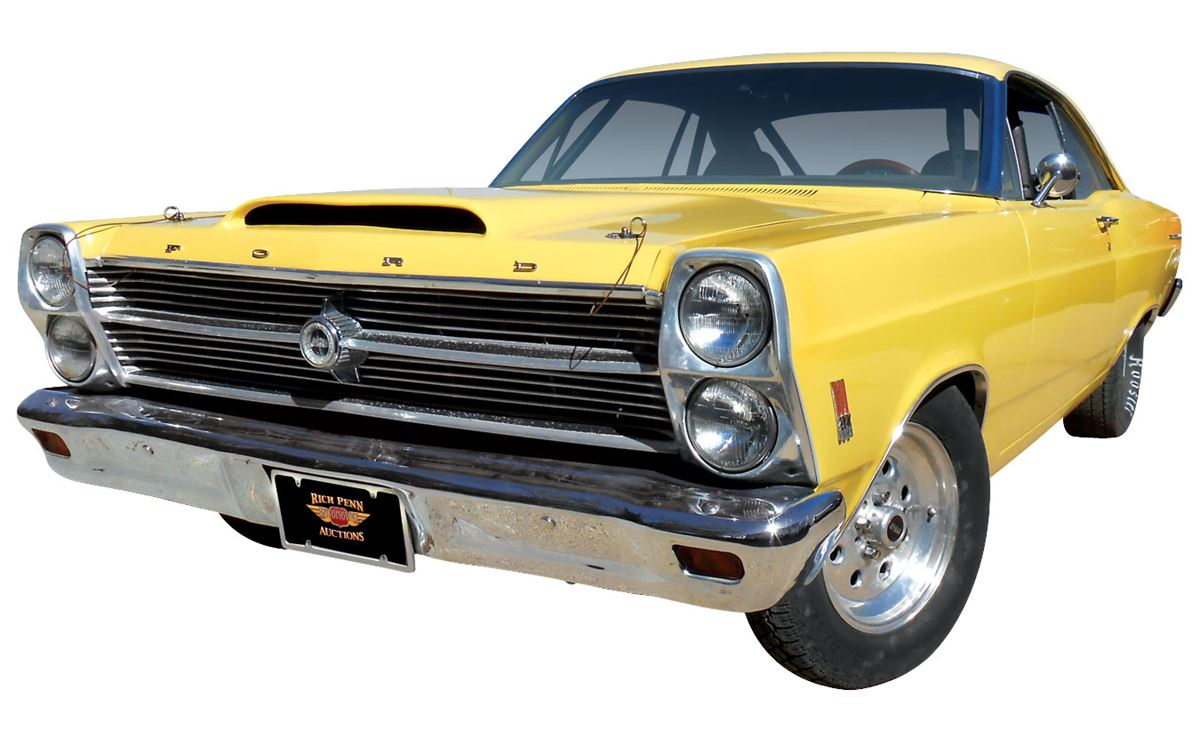 Automobile, 1966 Ford Fairlane 500 Clone  Yellow with black interior  Fresh  built 428 Cobra Jet engi
