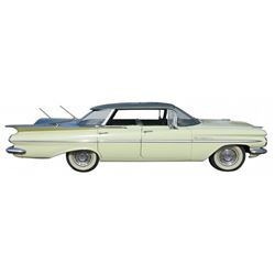 Automobile, 1959 Chevy Bel Air Sport Sedan 4 Dr. Hardtop.  Very low production number of this Chevy