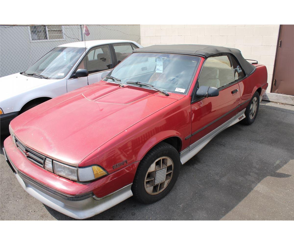 1988 chevrolet cavalier z24 convertible vin 1g1jf31wxj7156135