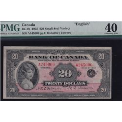 1935 Bank of Canada Twenty Dollars