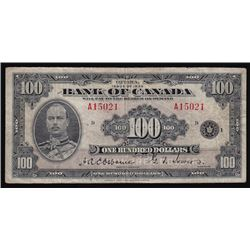 1935 Bank of Canada One Hundred Dollars