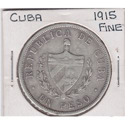 World Coins - Cuba 1 Peso 1915