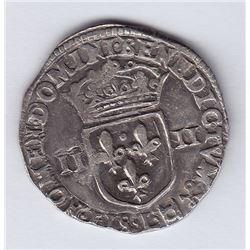 World Coins - France 1/4 Ecu 1605