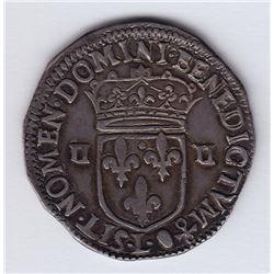 World Coins - France ¼ Ecu 1643