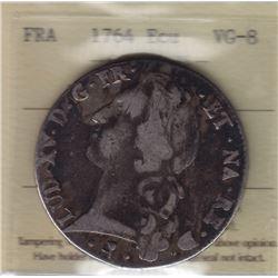 World Coins - France 1 Ecu 1764